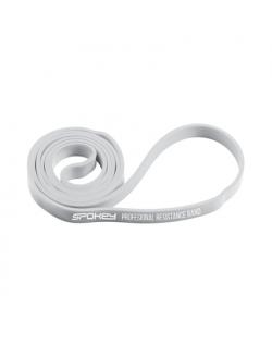 Spokey POWER II Rubber resistance band, 0-13 kg (super light), Light grey