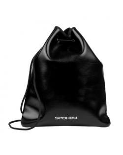 Spokey BACKPACK-SACK Purse, Cotton string, 33.5 x 39 cm, Black, 100% elastane