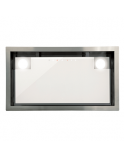 CATA Hood GC DUAL WH 45 Energy efficiency class D, Canopy, Width 49.2 cm, Touch control, White glass, LED