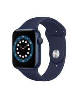 Apple Aluminium Case with Sport Band - Regular LT Series 6 GPS Smart watch, GPS (satellite), LTPO OLED Retina, Touchscreen, Blue