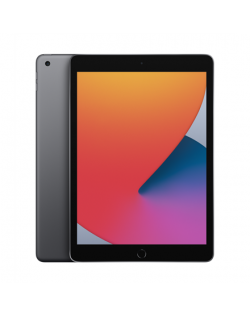 "Apple 8th Gen (2020) iPad Wi-Fi 10.2 "", Space Grey, Retina touch screen with IPS, Apple A12 Bionic, 3 GB, 128 GB, Wi-Fi, Front c"