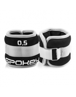Spokey FORM IV Velcro Loads, 2x0.5 kg, Grey/Black, Neoprene