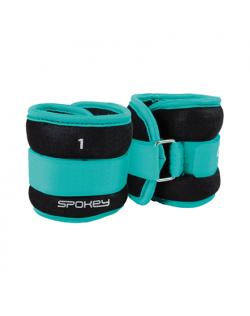 Spokey FORM IV Velcro Loads, 2x1 kg, Green/Black, Neoprene
