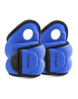 Spokey COM FORM IV Velcro Loads, 2x1.5 kg, Blue, Neoprene