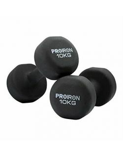 PROIRON PRKNED10K Dumbbell Weight Set, 2 pcs, 10 kg, Black, Neoprene