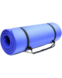 PROIRON Pilates Mat Gym Mat, 180 x 61 x 1.5 cm Rolled up diameter: 15-20 cm, Blue, Rubber Foam