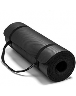 PROIRON Pilates Mat Gym Mat, 180 x 61 x 1.5 cm Rolled up diameter: 15-20 cm, Black, Rubber Foam