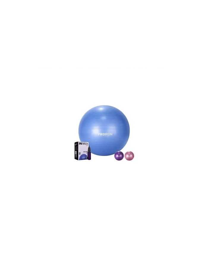 PROIRON Exercise Yoga Ball Balance Ball, Diameter: 55 cm, Thickness: 2 mm, Blue, PVC