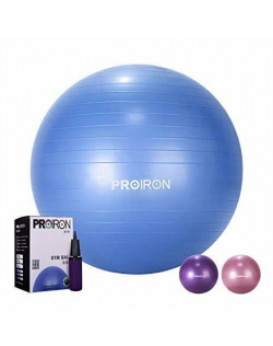 PROIRON Exercise Yoga Ball Balance Ball, Diameter: 65 cm, Thickness: 2 mm, Blue, PVC