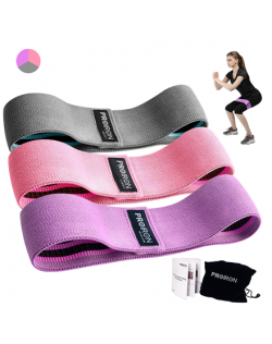 PROIRON Fabric Booty Exercise Band Set Fitness Bands, 38 x 8 cm, 3 pcs, Multicolor