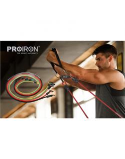PROIRON Exercise Resistance Bands Set Multicolor, Foam, Rubber, 160 cm