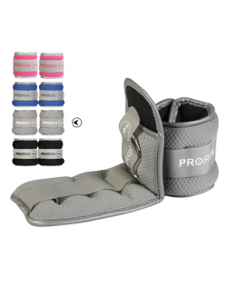 PROIRON Ankle Weight Set Weight Bands, 31.5 x 11 cm, 2 x 1.5 kg, Light Grey