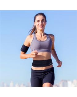 PROIRON Runners Waist Pack Running Belt, 46 x 9 cm Waist size: 63 - 110 cm, Black