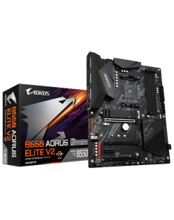 Gigabyte B550 AORUS ELITE V2 1.0 Processor family AMD, Processor socket AM4, DDR4 DIMM, Memory slots 2, Chipset AMD B, ATX
