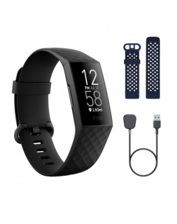 Fitbit Charge 4 Smart watch, NFC, GPS (satellite), PMOLED, Touchscreen, Heart rate monitor, Activity monitoring 24/7, Waterproof