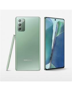 "Samsung Galaxy Note20 Mystic Green, 6.7 "", Super AMOLED, 1080x2400 pixels, Internal RAM 8 GB, 256 GB, Dual SIM, 4G, Main camera 12+64+12 MP, Secondary camera 10 MP, Android, 10.0, 4300 mAh"