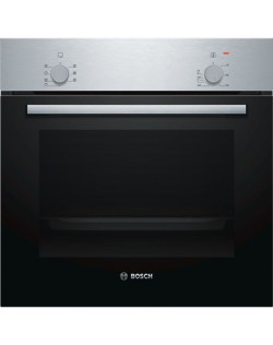 Bosch Oven HBF010BR0S 66 L, Electric, Rotary knobs, Height 59.5 cm, Width 59.4 cm, Stainless steel/Black