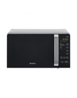Winia Microwave oven with Grill KQG-663DW Free standing, 700 W, Grill, Stainless steel/Black