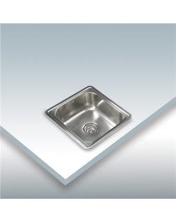 CATA Sink CSS 1 Undermount, Square, Number of bowls 1, Stainless steel, Stainless steel