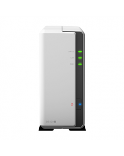 Synology Tower NAS DS120j up to 1 HDD/SSD, Marwell, Armada 3700 Dual-Core, Processor frequency 0.8 GHz, 0.5 GB, DDR3, 1x1GbE, 2x