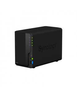 Synology Tower NAS DS218 up to 2 HDD/SSD Hot-Swap, Realtek RTD1296 Quad Core, Processor frequency 1.4 GHz, 2 GB, DDR4, RAID 0,1,