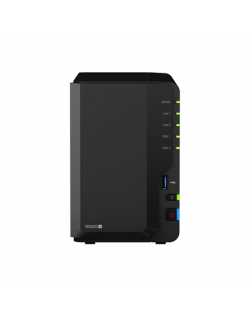 Synology Tower NAS DS220+ up to 2 HDD/SSD Hot-Swap, Intel Celeron J4025 Dual Core, Processor frequency 2 GHz, 2 GB, DDR4, RAID 0