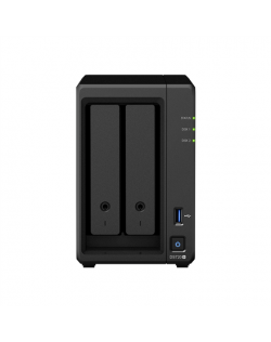 Synology Tower NAS DS720+ up to 2 HDD/SSD Hot-Swap, Intel Celeron J4125 Quad Core, Processor frequency 2 GHz, 2 GB, DDR4, 2xM.2