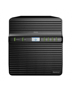 Synology Tower NAS DS420j up to 4 HDD/SSD, Realtek RTD1296 Quad Core, Processor frequency 1.4 GHz, 1 GB, DDR4, RAID 0,1,5,6,10,H