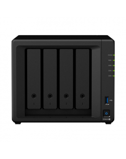Synology Tower NAS DS920+ up to 4 HDD/SSD Hot-Swap, Intel Celeron J4125 Quad Core, Processor frequency 2 GHz, 4 GB, DDR4, 2xM.2