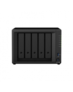 Synology Tower NAS DS1520+ up to 5 HDD/SSD Hot-Swap, Celeron J4125 Dual Core, Processor frequency 2 GHz, 8 GB, DDR4, RAID 0,1,5,