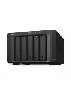 Synology Tower NAS Expansion Unit DX517 up to 5 HDD/SSD Hot-Swap (drives not included), Internal AC 100-240V Universal, 50/60 Hz