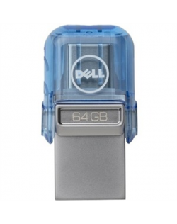 Dell USB A/C Combo Flash Drive 64 GB, USB Type-A/USB Type-C, Blue