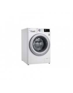 LG Washing machine F2WN2S6S4E A+++ -20%, Front loading, Washing capacity 6.5 kg, 1200 RPM, Depth 46 cm, Width 60 cm, Display, Steam function, Direct drive, White, Silver