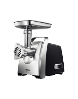 Bosch Meat mincer MFW68660 Black, Throughput (kg/min) 4.3, Kebbe, Sausage horn, Fruit press, Shredding Attachment, 4 barrels, 80