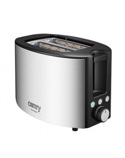 Camry Toaster CR 3215 Power 1000 W, Number of slots 2, Housing material Stainless steel, Black/Stainless steel