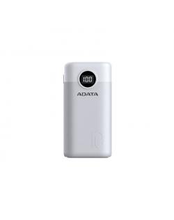 ADATA Power bank P10000QCD 10000 mAh, Li-Polymer, White