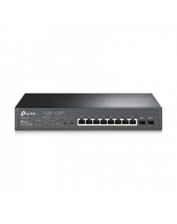 TP-LINK JetStream 10-Port Gigabit Smart PoE Switch TL-SG2210MP Web Managed, Rack Mountable, SFP ports quantity 2, Power supply t