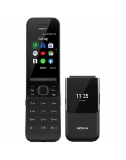 "Nokia 2720 Flip 2.8 "", Nordic Black, TFT, 240 x 320 pixels, Qualcomm MSM8905 Snapdragon 205, Dual SIM, 2, Nano-SIM, 4.2, Interna"
