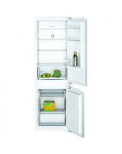 Bosch Serie 2 Refrigerator KIV86NFF0 F, Built-in, Combi, Height 177 cm, Fridge net capacity 183 L, Freezer net capacity 84 L, 39