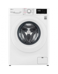 LG Washing Machine F4WN207S3E A+++ -30%, Front loading, Washing capacity 7 kg, 1400 RPM, Depth 56 cm, Width 60 cm, Display, LED, Steam function, White