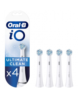 Oral-B Toothbrush Replacement Heads iO Ultimate Clean Heads, For adults, Number of brush heads included 4, White