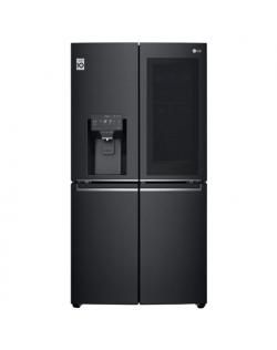 LG InstaView Door-in-Door Refrigerator GMX945MC9F A+, Free standing, Side by side, Height 179.3 cm, No Frost system, Fridge net capacity 364 L, Freezer net capacity 199 L, Display, 40 dB, Black