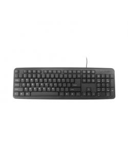 Gembird KB-U-103-RU Standard, Wired, Keyboard layout EN/RU, 1.4 m, Black, 424 g
