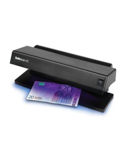SAFESCAN 45 UV Counterfeit detector Black, Suitable for Banknotes, ID documents, Number of detection points 1