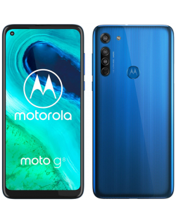 "Motorola Moto G8 Blue, 6.4 "", IPS LCD, 720 x 1560 pixels, Qualcomm SM6125 Snapdragon 665, Internal RAM 4 GB, 64 GB, microSDXC, Dual SIM, Nano-SIM, 3G, 4G, Main camera 16+8+2 MP, Secondary camera 8 MP, Android, 10.0, 4000 mAh"