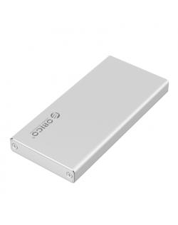 Orico mSATA Hard Drive Enclosure MSA-U3-SV-BP mSATA, Portable SSD Case, USB 3.0