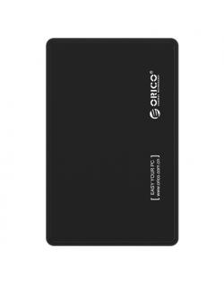 Orico 2.5 inch USB2.0 Hard Drive Enclosure 2588US-V1-BK-BP SATA I, II, USB 2.0, 7-9.5 mm