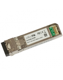MikroTik S+85DLC03D SFP+, Multi-Mode Fiber, Dual LC, 10/100/1000/10000 Mbit/s, Wavelength 850 nm, Maximum transfer distance 300