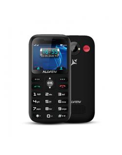 """Allview D3 Senior Black, 2.31 """", TFT, 240 x 320 pixels, 8 MB, 16 MB, Dual SIM, Mini SIM, 3G, Bluetooth, 2.1, Built-in camera, Ma"""