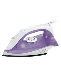 Iron Adler AD 5019 Violet/White, 1600 W, With cord, Continuous steam 10 g/min, Water tank capacity 100 ml